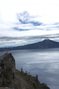 Crater Lake, OR - Wish I had my tripod, this lake is so large that you'd have to stitch together several photos to show it's true size.