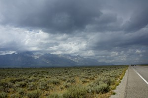 Heading away from the Tetons and back to Jackson to seek refuge from this Jesus sized storm. It began raining cats, dogs and large elephant like objects.